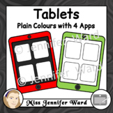 Tablets with 4 Apps Clipart Set 1