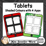 Tablets with 4 Apps Clipart Set 2
