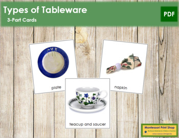 Tableware: 3-Part Cards