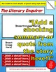 Tabloid Cover Template for Novel Study Projects