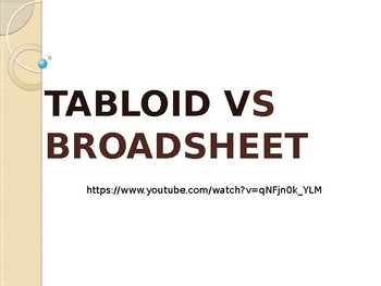 Tabloid Vs Broadsheet newspapers