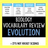 Biology Vocabulary Review Game - Evolution