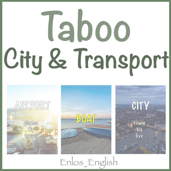 Taboo Cards City & Transport