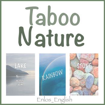Taboo Cards Nature