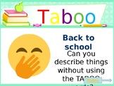 Taboo Game - School