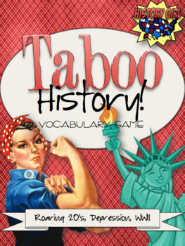 Taboo History Vocabulary Game: 1920's, Great Depression, & WWII