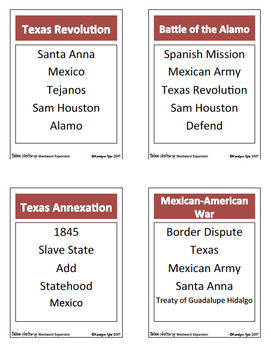 Taboo History Vocabulary Game: Westward Expansion Edition