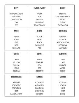 Taboo Game - Nouns