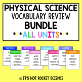 Physical Science Vocabulary Review Game - Cumulative BUNDLE