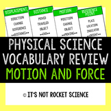 Physical Science Vocabulary Review Game - Motion and Force
