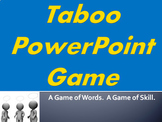 Taboo PowerPoint Game - basic everyday vocabulary words