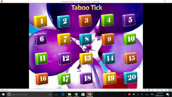 Taboo Tick PPT Game