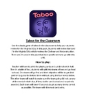 Taboo for the classroom- Civil War Edition