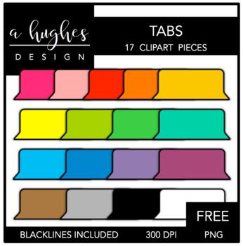 FREE Tabs Clipart {A Hughes Design}