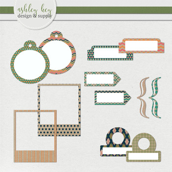 Tabs, Tags and More Clipart- Craft Paper Pop Collection