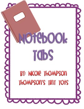 Tabs for Journals or Notebooks