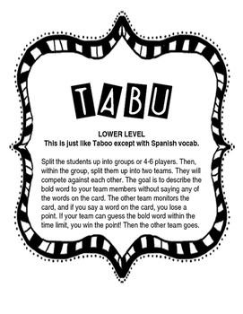 Tabu - Lower Level