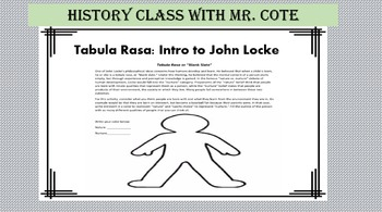 Tabula Rasa: Intro to John Locke
