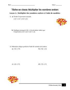 Multiplier les nombres entiers/ Assignment Multiplying Integers