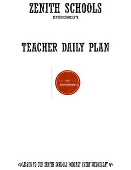 Tacher Daily Plan (Self-Care)