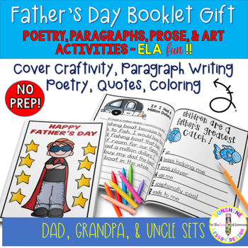 Tackle and Ties Father's Day Writing,Poetry,Art Gift Book Set Pack (Printable)
