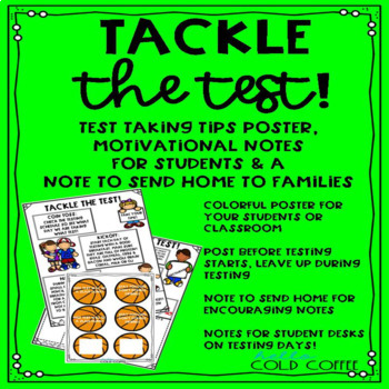 TACKLE the TEST- Testing Prep Notes and Poster