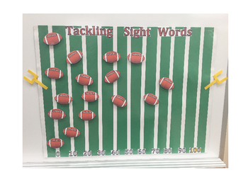 Tackling First Grade Sight Words Bulletin Board - Editable