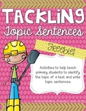 Topic Sentences FREEBIE
