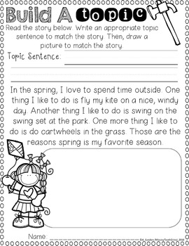 Topic Sentences (Spring Edition)