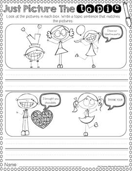 Topic Sentences (Valentine's Day Edition)