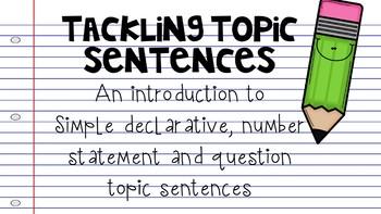 Tackling Topic Sentences {Write Tools style}