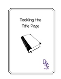 Tackling the Title Page