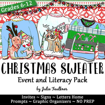 Wacky, Tacky, Ugly Christmas Sweater Event Pack, Literacy