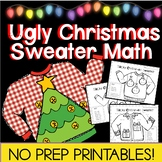 Tacky Christmas Sweater Math Color by Number for GRADES 3-5