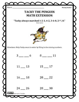 Tacky The Penguin Math Extension