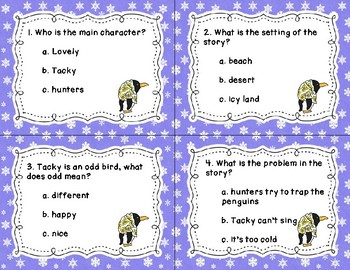 Tacky The Penguin Task Cards