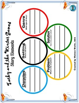 Tacky and the Winter Games Story Elements Activity
