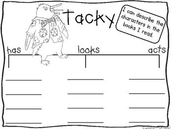 Tacky book companion recording sheets