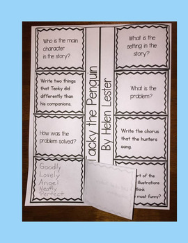 Tacky the Penguin Book Companion  (Interactive Printable and Writing Rubrics)
