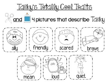 Tacky the Penguin-Character Traits
