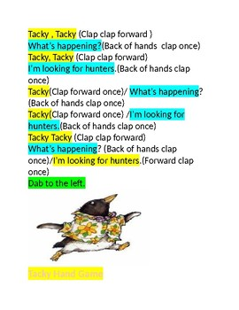 Tacky the Penguin Clapping Game