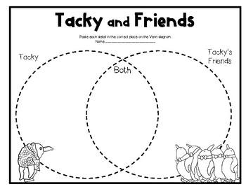 Tacky the Penguin Common Core Book Study