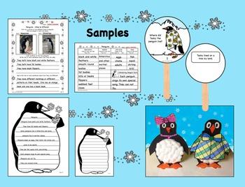Tacky the Penguin - Comprehension Q & A Sticks, Craft, & More