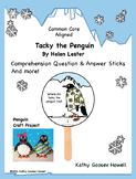 Tacky the Penguin - Comprehension Q & A Sticks, Craft, & More