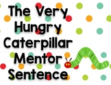 The Very Hungry Caterpillar Mentor Sentence