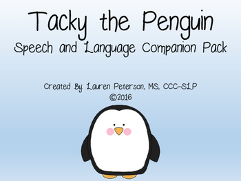Tacky the Penguin Speech and Language Companion Pack