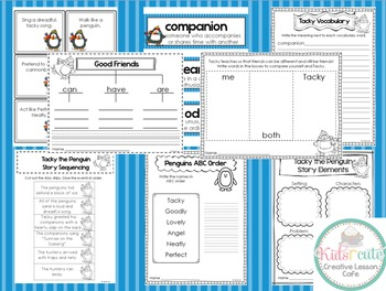 Tacky the Penguin {Mini- Unit} Activities, Worksheets, Project and More!