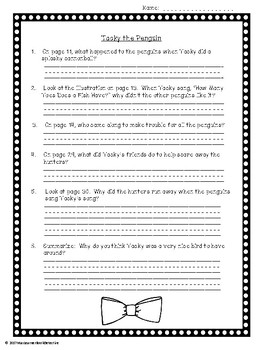 Tacky the Penguin: Text-Dependent Questions and more!