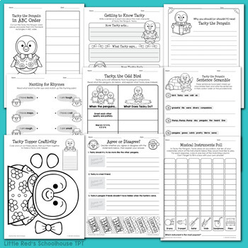 Tacky the Penguin Worksheet Packet