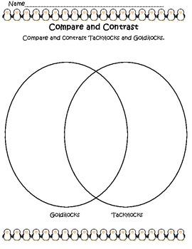 Tackylocks and Goldilocks Compare and Contrast